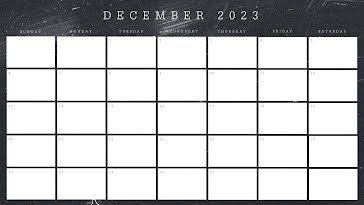 Scratchy Monthly - Monthly Calendar template