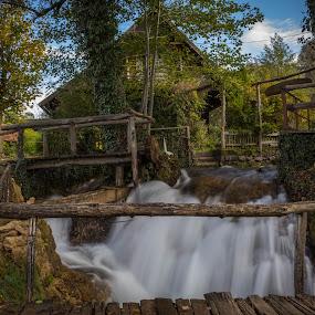 Old mill by Nena Volf - Uncategorized All Uncategorized ( rastoke, old mill, waterfall, croatia )