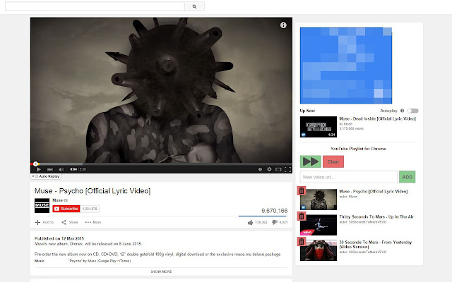 Personal Playlist for YouTube on Chrome