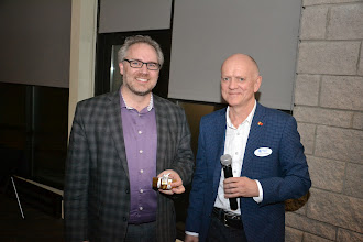 Photo: ASHRAE Ottawa President Rod Potter thanking Guest Speaker Steve Kemp for presenting