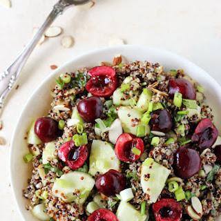Cucumber Quinoa Salad with Cherries