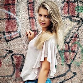 Rita by Sergey Kuznetsov - People Portraits of Women ( woman, beauty, young, model, blonde, girl, summer )