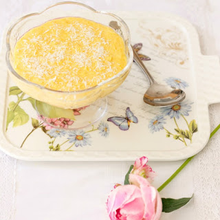 Sweet Corn and Coconut Pudding.