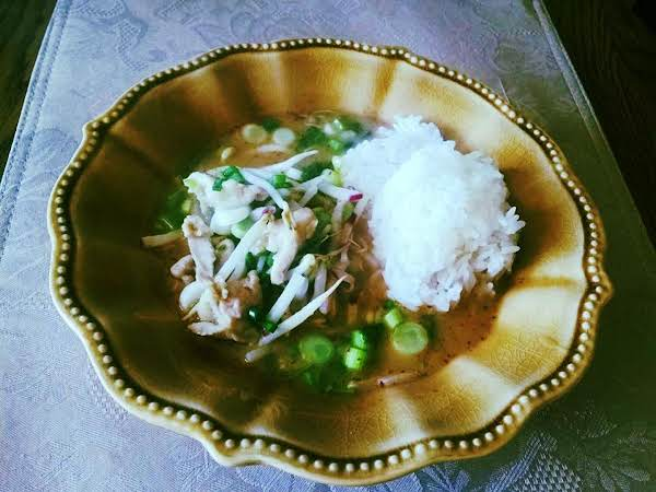 Chicken Red Curry With Sticky Rice