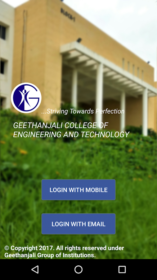 Geethanjali College App- screenshot
