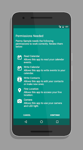 Permissions Example|玩程式庫與試用程式App免費|玩APPs