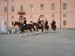 Photo: Hästar och ryttare vid Uppsala slott