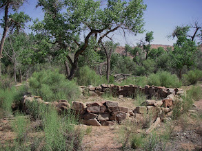 Photo: Found circular old rock foundation near Big Stick camp.