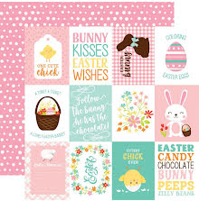 Echo Park Easter Wishes Cardstock 12X12 - 3X4 Journaling Cards UTGÅENDE