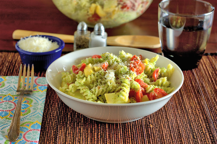 Fusilli Primavera with Broccoli Pesto