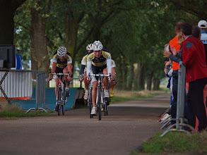 Photo: Finish van TC Heeze, de uiteindelijke winnaars met een gemiddelde snelheid van 42.2 km/u.