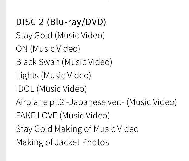 BTS New Japnese Album Tracklist