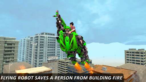 Real Flying Robot Helicopter Transform City Rescue for PC