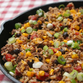 Tex Mex Ground Beef Skillet.