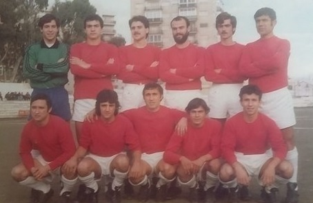 Equipo de 1979-1980 en el Estadio de La Falange.