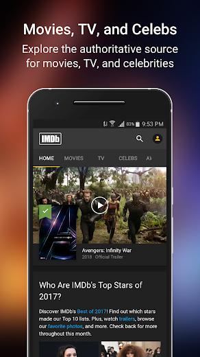 Screenshot 1 for IMDb's Android app'