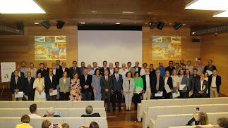 Los galardonados en los Premios Arco que organiza el Colegio de Arquitectos.