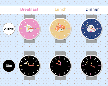 Sushi Watch Face - Moto 360 screenshot 1