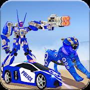 US Police Robot War Tiger Robot Transform Games