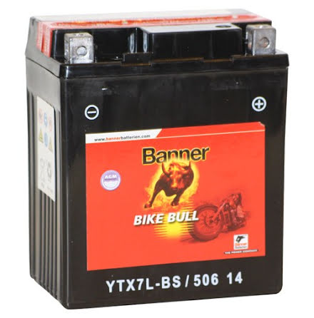 MC-batteri 6Ah YTX7L-BS Banner AGM