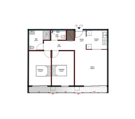 Location appartement 3 pièces 70,61 m2