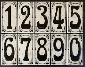"""Photo: Malibu Tile Works - House Number Address Tiles - Creamy Gold - No Border 3"""" x 6"""" Tiles - Each Sold Separately"""