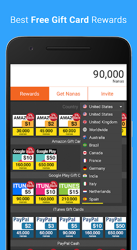 AppNana - Free Gift Cards Screenshot
