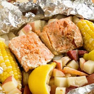 Cajun Shrimp Boil Foil Packets.