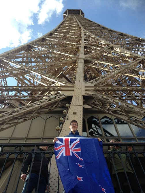 The NZ flag having it's moment of glory.