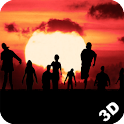 Sunset Zombies 3D Wallpaper icon