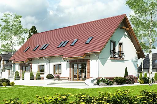 projekt Sosnówka II bez garażu bliźniak B-BL1