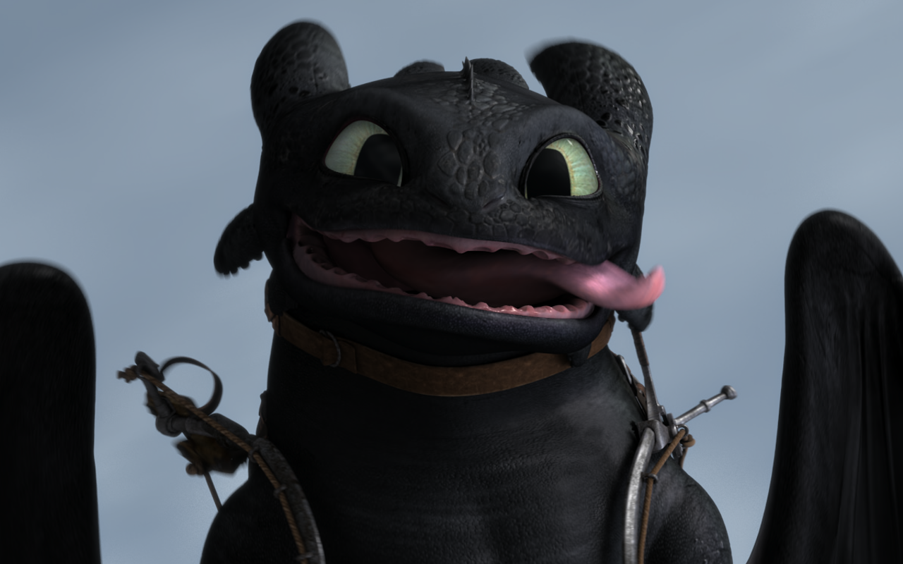 Toothless looks funny…like his bro Hiccup
