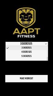 AAPTFitness Workout Generator - náhled