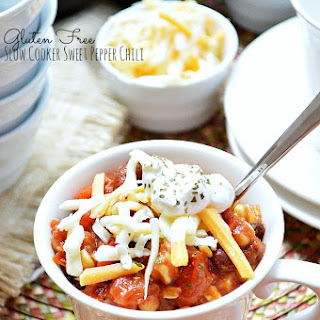 Gluten Free Slow Cooker Sweet Pepper Chili