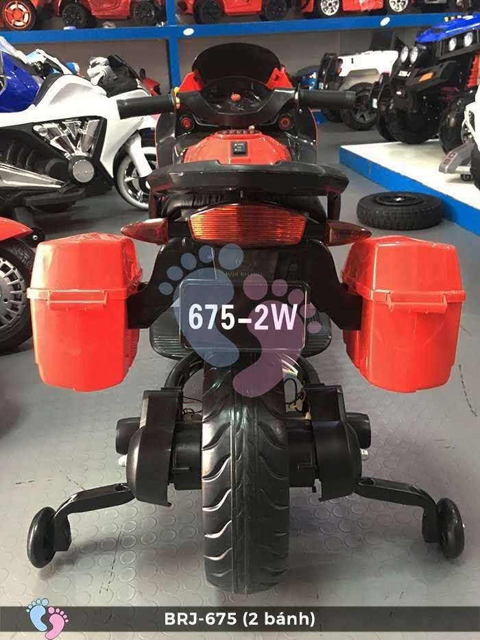 Xe moto điện cho bé 675 2 bánh có đèn bánh xe