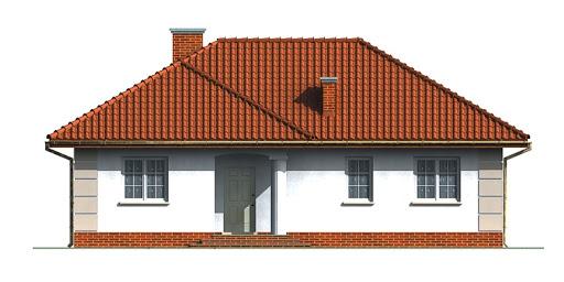 Dom przy Łabędziej - Elewacja przednia