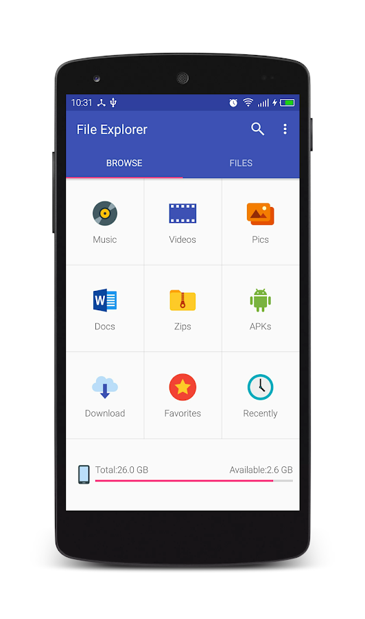 File Explorer for Android- screenshot