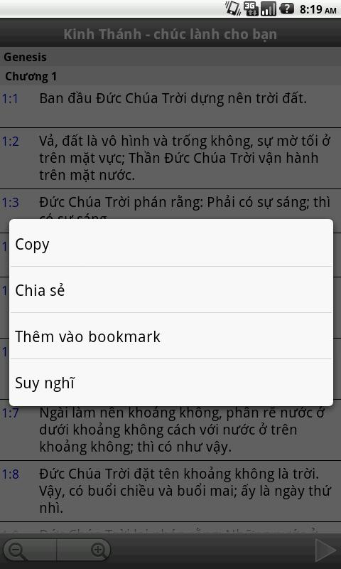 Kinh Thánh - chúc lành cho bạn - screenshot