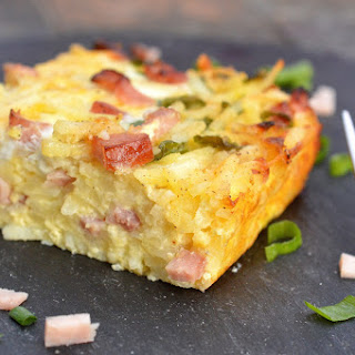 Ham & Cheese Hash Brown Bake (Recipes for Leftover Ham).