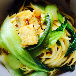 Noodles with Tofu, Bok Choy and Hoisin Sauce