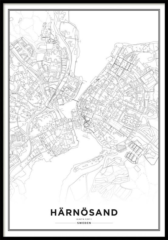 Karta Poster, Härnösand