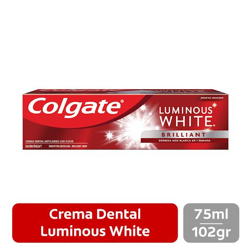 Crema Dental Colgate Luminous White Brilliant  75 Ml Empieza tu día con toda la confianza y seguridad que te brinda Colgate Luminous White.