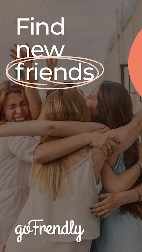 GoFrendly: u00a0Encuentra, conoce y haz amigos, ¡solo mujeres! capturas de pantalla 1