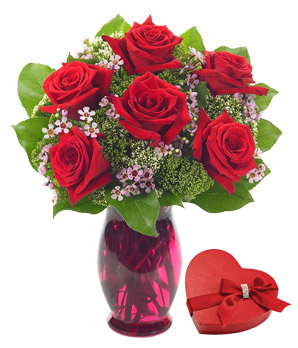 Photo: Rose Garden Bouquet with Chocolate for Valentine's Day Delivery http://www.fromyouflowers.com/products/rose_garden_bouquet_2.htm