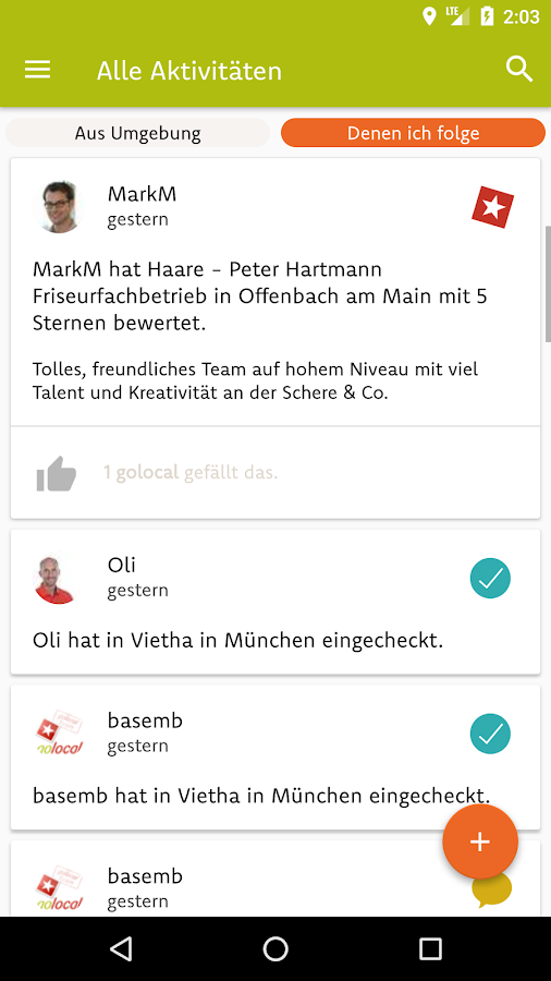 golocal – Screenshot