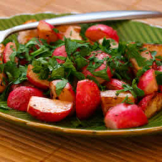 Sauteed Radishes Recipe with Vinegar and Herbs