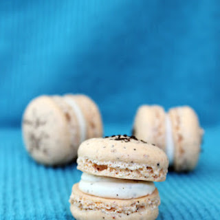 Earl Grey Tea Macarons With Earl Grey Tea Buttercream Filling
