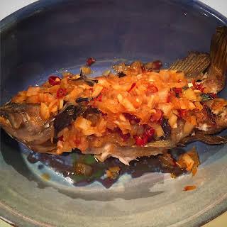 Thai Style Roasted Whole Fish.