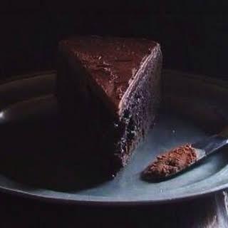 Dark Chocolate Baileys Mud Cake.