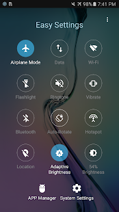 Easy Settings - Quick Toggles - náhled